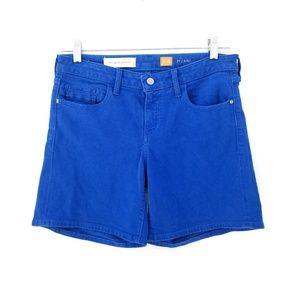 Anthro Pilcro Blue Bermuda Wide Boxy Shorts